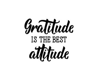 gratitude is the best attitude of successful people